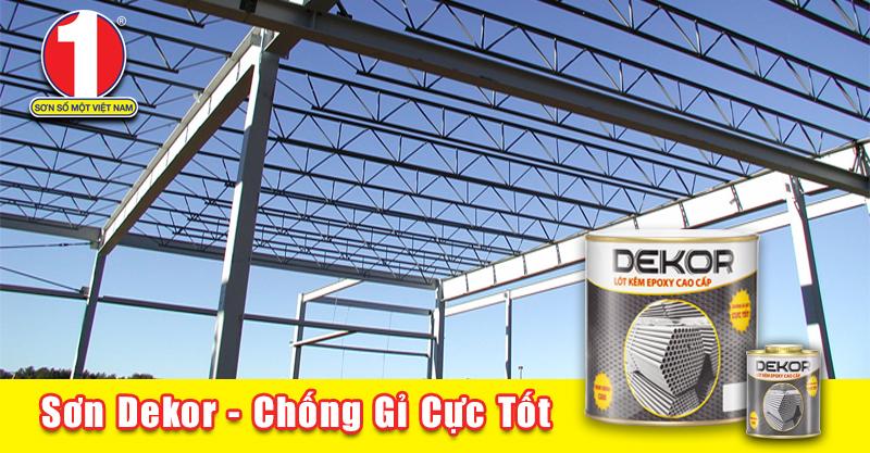 Sơn lót kẽm epoxy Dekor - lớp bảo vệ vững chắc cho mọi công trình