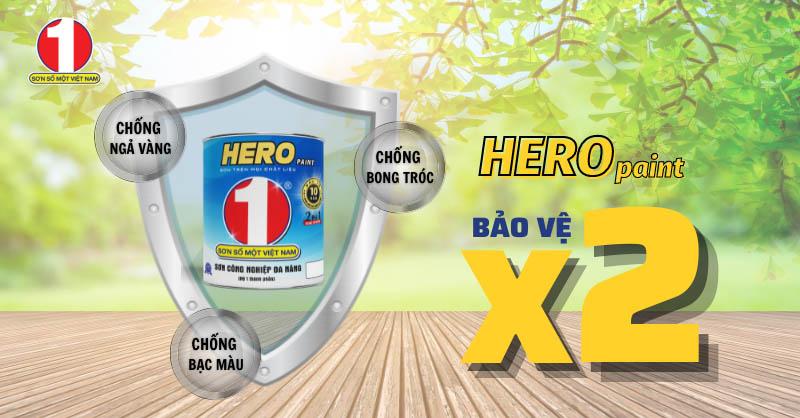 HERO paint - Công nghệ đột phá, gấp đôi khả năng bảo vệ