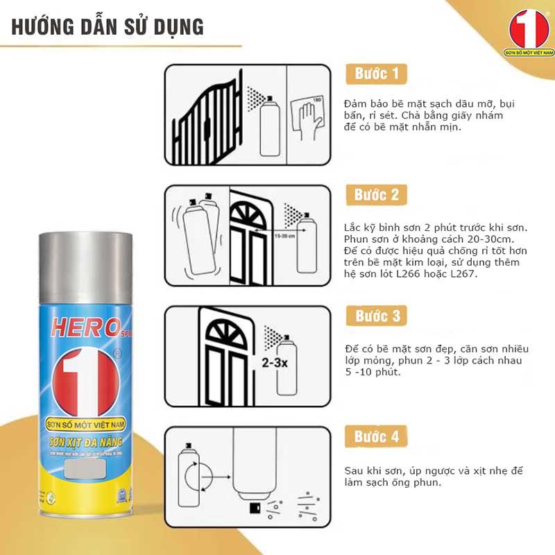 Hướng dẫn 4 bước sử dụng sơn xịt đúng chuẩn